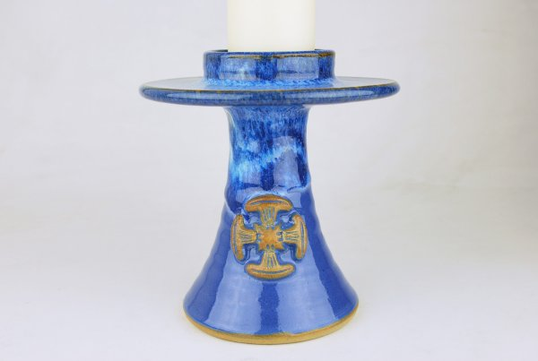 Smaller Altar Candlestick with Canterbury Cross