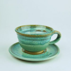 Coffee Cup & Saucer (flared)