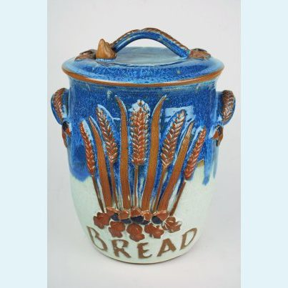 Wide Decorated Bread Bin