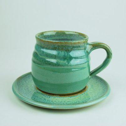 Coffee Cup & Saucer (chubby)